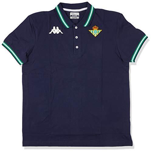 Kappa Zoshi 4 Betis Polo, Hombre, Azul Marino, XL