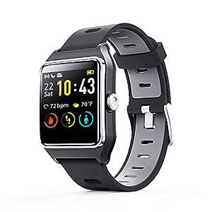 Fashion Shopping ENACFIRE Smart Watch, W2 GPS Fitness Tracker IP68 Waterproof Smartwatch, Heart Rate Monitor, Sleep Tracker, Step Counter…