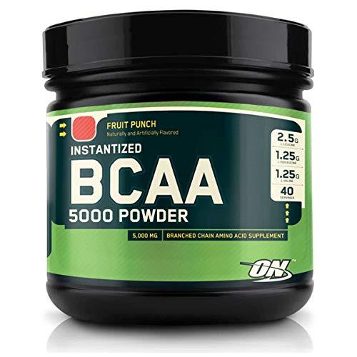 BCAA em Pó Optimum Nutrition/BCAA 5000 Powder Optimum Nutrition - Laranja 380g