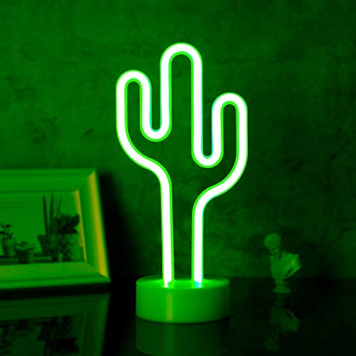 Led Neon Signs for Bedroom Cactus LED Neon Lights Table Cactus Decor Wall Decor Neon Lamp with Glow Light Unique Gift