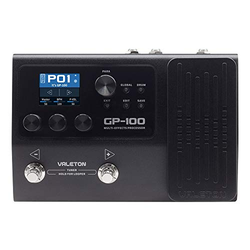 GUITAR MULTI EFFECTS PROCESSOR WITH PEDAL - Valeton GP-100 Pre-Effects Looper - User-Friendly Quality Tone Machine - Powerful HD Digital Modeling System - Over 140 Effect Selections