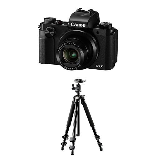 Canon PowerShot G5 X Digitalkamera (20,2 Megapixel, 7,5 cm (3 Zoll), WLAN, NFC, Image Sync, 1080p, Full HD) schwarz + Mantona Scout