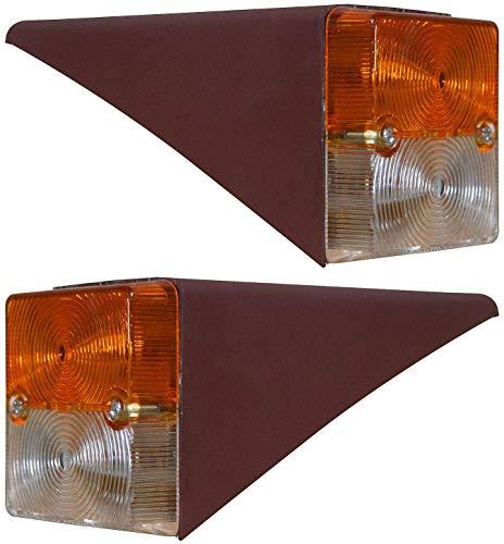 Front-Seitenblinker Set mit Metallklammern und 12 V Glühbirnen, passend für IHC Mc Cormick 323 423 353 453 D323