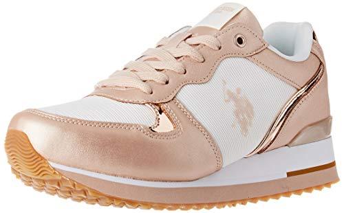 U.S. POLO ASSN. Tuzla2, Sneaker Donna, Multicolore (off/Copp 068), 39 EU