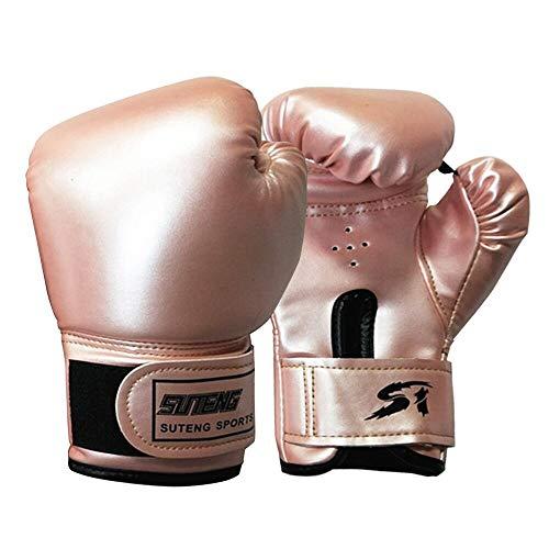 Kinder Boxhandschuhe Leder Punchinghandschuhe Sparring Muay Thai Trainingshandschuhe für Kickboxen Boxsack Stanzen Grappling Fokuspads Sandsack Boxing Gloves 3 bis 12 Jahren (Rosa)