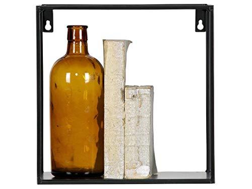 Wandregal Meert Kubus - Schweberegal - Hängeregal oder Küchenregal 2er-Set mit 30 cm x 30 cm x 15cm und 25cm x 25 cm x 15cm - Ideal für Küche, Wohnzimmer, Schlafzimmer Flur und Diele -