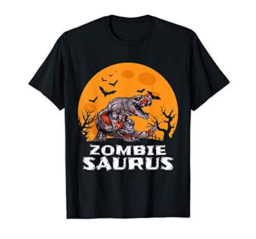Halloween Zombie T rex Dinosaur Costume Gift Boys Girls Kids Maglietta
