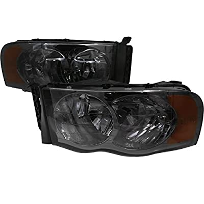AJP Distributors For Dodge Ram 1500 2500 3500 Truck Pick Up Headlights Head Lamps Lights Upgrade Replacement 2002 2003 2004 2005 02 03 04 05
