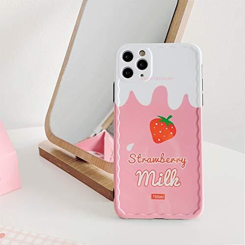 DSMYYXGS Funda de teléfono Coreana for iPhone 11 Pro MAX XR X XS MAX 7 7 Puls 7 8 Puls, Funda de Silicona Suave (Color : A, Size : For iPhone 7 Plus)