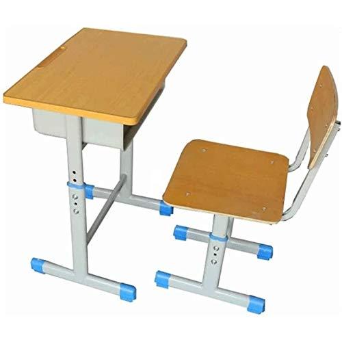 Tolalo Juego de escritorio y silla para niños, escritorio de estudio para niños, escritorio para niños, altura ajustable con silla, estación de trabajo escolar para niños, escritorio para estudiantes