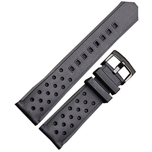 NW 22mm silicone gomma Diver Racing nero cinturino nero fibbia