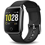 Donerton Smart Watch, Fitness Tracker for Android and iOS Phone, IP68 Waterproof Smartwatch with Pedometer, Activity Tracker with Heart Rate and Sleep Monitor, Fitness Watch for Men Women