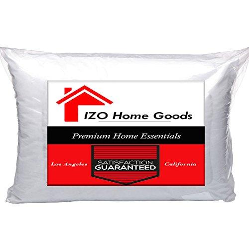 "IZO Home Goods 12"" x 18"" Rectangular Sham Stuffer Hypo-allergenic Throw Pillow Toss Pillow"
