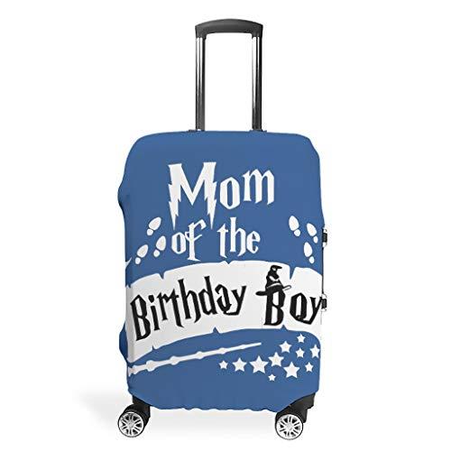 Funda protectora para equipaje con diseño de mamá del cumpleaños, diseño de mago, 4 tamaños únicos para funda protectora de equipaje., White (Blanco) - STELULI-XLXT-24