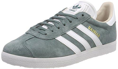 adidas Gazelle W, Zapatillas para Mujer, Verde (Raw Green/Footwear White/Linen 0), 36 EU