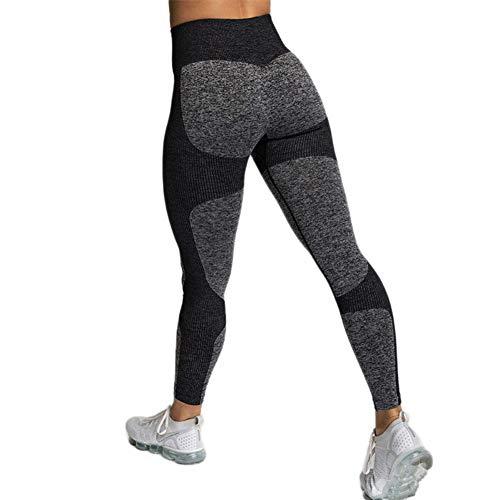 SotRong Damen Sport Leggings Drucken Fitness-Sporthose Gym Yoga Athletische Hosen Winterleggings Workout Trainingshose Mädchen Sportkleidung Schwarz M