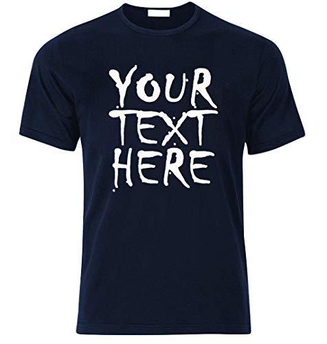 Votre Texte Ici T-Shirt Your Text Here Imprimer Meilleur Cadeau personnalisé Surprise pour Anniversaire Noël Bachelor Team Party Business T-Shirts Express Vous-même