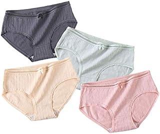 Underware Womans 4 pcaks Cotton Soft Breathable Stretch Panties Comfort briefs
