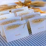 HUAESIN 100pcs Getrocknete Weizen Natürliche Trocken Weizen Deko Weizenstrauß Weizen Getrocknete Blumen für Hochzeit Mittelstücke Zuhause Balkon Party Tisch Vase Deko 40cm - 5