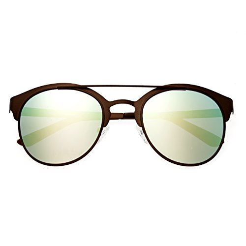 Breed Phoenix Titanium Sonnenbrille, (Brown/Celeste), Medium