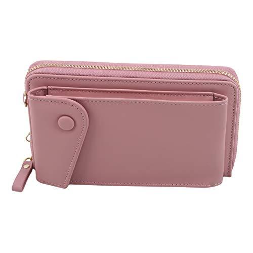 Toporchid Umhängetasche Handy Geldbörse Brieftasche Kartentasche für Frauen (Pink)