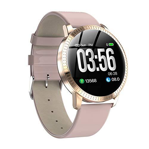 XMYL IP67 Fitness Tracker, Sport Activity Tracker Smart Watch, wasserdichte Fitnessuhr Uhr mit Pulsmesser, Damen und Herren,für Samsung Huawei Android IOS Smartphone,Rosa