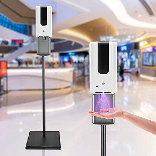 4YANG Dispensador automático de desinfectante de Manos y Kit de estación de Soporte de Piso Ajustable 1200ml Adecuado para Colocar en la Entrada de escuelas, hospitales y centros comerciales