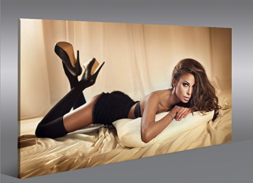 Quadro moderno arte Erotica V1Artful Nude Impresión sobre lienzo-Quadro X sillones salón cocina muebles oficina casa-Fotográfica Tamaño XXL cuadros