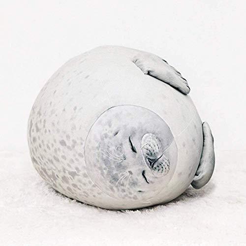 Meerestier Kissen, Blob Seal Kissen Süße Kissen Plüsch Stofftier Baumwolle Plüschtier Kissen Bequemes umarmbares gefülltes Geschenk Spielzeug für Jungen und Mädchen