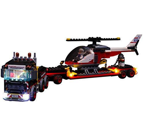 QZPM Set di Luci per (City Trasportatore Carichi Pesanti) Modello da Costruire, Kit Luce LED Compatibile con Lego 60183 (Non Incluso nel Modello)