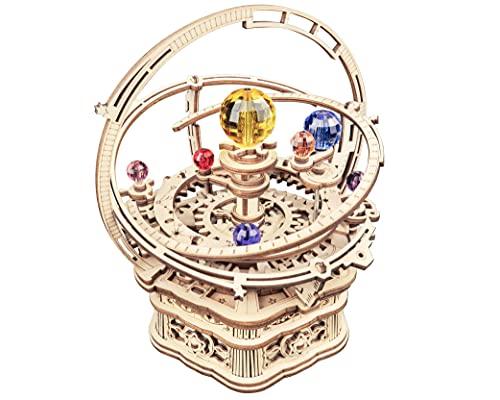 Robotime Astronomia - Carillon meccanico in legno 3D, taglio al laser, set fai da te, regalo per ragazzi e adulti