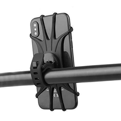 NEALLE Fahrrad-Handyhalterung, 360 ° drehbar, Fahrrad- & Motorrad-Handyhalterung, kompatibel mit iPhone 11 / SE 2020 / XS/XR/X / 8/8 Plus / 7/7 Plus/Huawei Mate/Samsung Galaxy