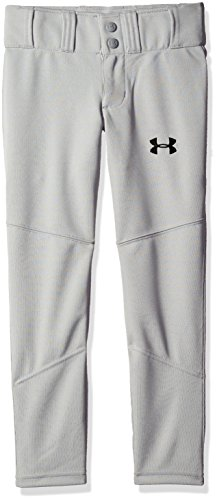 Under Armour Boys' Lead, Baseball Gray (075)/Black, Youth Large