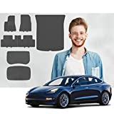 Road Comforts Complete Set Tesla Model 3 All Weather Floor Mats - 2017 2018 2019 2020 (Fits Model 3 2017 to July 2020) - Front + Second Row + Front Cargo + Back Cargo/Trunk + Back Storage (7pcs)
