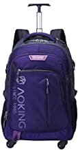 AOKING 20/22 ″ Water Resistant Rolling Wheeled Backpack Laptop Compartment Bag (22 inch, Purple)