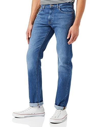 Lee Herren Jeans Daren Zip Fly - Regular Fit - Blau - Dark Freeport W28-W48 Stretch 90% Baumwolle, Größe:38W / 32L, Farbvariante:Dark Freeport L707PXGQ