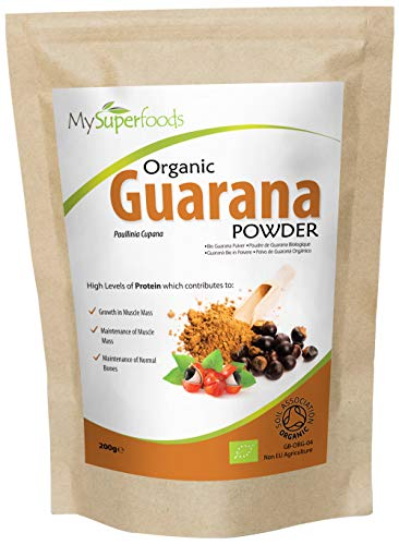 MySuperFoods Poudre de Guarana Bio 200g, Source Naturelle et Nutritionnelle de Caféine