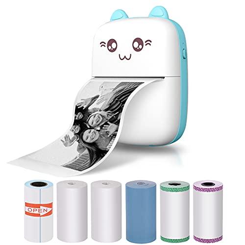 Goodes Mini impresora de bolsillo, impresora de fotos portátil para smartphone, impresora inalámbrica, compatible con Android e iOS,...