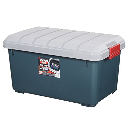 アイリスオーヤマ ボックス RVBOX 600 グレー/ダークグリーン 幅61.5×奥行37.5×高さ33cm