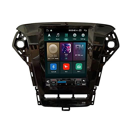 ADMLZQQ Android 9/11 Radio de Coche Estéreo para Ford Mondeo mk4 2011-2013 Pantalla táctil Navegación GPS Controllo del Volante/FM/Bluetooth Telecamera Posteriore,Ts3