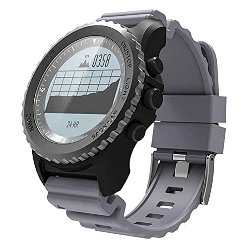 LLM S968 GPS Smart Watch IP68 Impermeable Monitor de frecuencia cardíaca Reloj Deportivo Podómetro Natación Reloj Inteligente para Exteriores para Hombres(C)