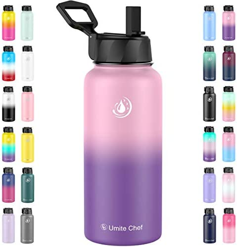 Umite Chef Water Bottle Vacuum Insulated Wide Mouth Stainless Steel Sports Water Bottle with product image