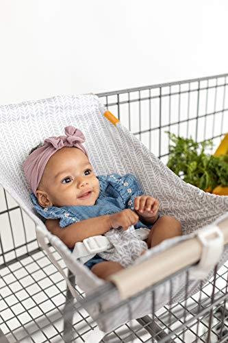 BINXY BABY Shopping Cart Hammock   The Original   Holds All Car Seat Models   Ergonomic Infant Carrier + Positioner… (Little Arrow)