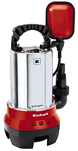 Einhell GH-DP 5225 N - Bomba de aguas sucias (520W, capacidad de 10.000 l/h, profundidad max. de inversión 5m, conexión de manguera 47.8mm, cuerpos extraños hasta 25 mm) (ref.4170481)