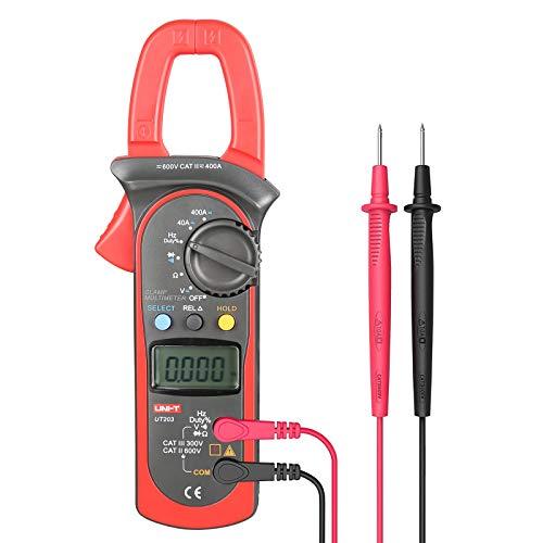 UNI-T UT203 Medidor Digital de pinza ac dc voltaje corriente resistencia frecuencia multímetro Tester