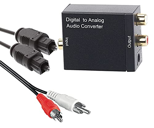 auvisio Digital analog Wandler: Audio-Konverter Digital (Toslink/Koaxial) zu Analog (Cinch) mit Kabel (Adapter optisch auf Cinch)