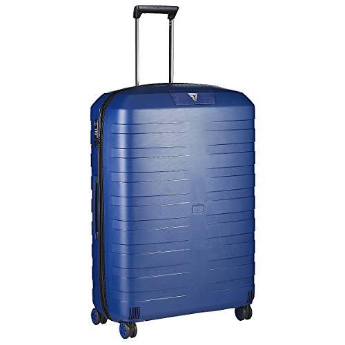 Roncato Box 4.0 Maleta Grande Expansible Azul, Medida: 80 x 54 x 30/33 cm, Capacidad: 118/130 l, Pesas: 3.80 kg