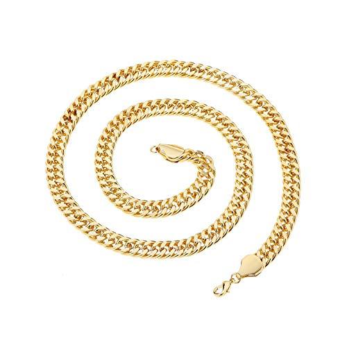 Halskette, Geschenk für Mütter, Frauen, Mädchen, Hip-Hop-Herren, lange kubanische Halskette, Party, Club, Pub, Straße, Dekoration, Schmuck – Silber, silber