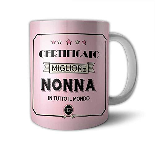 Babloo Tazza Mug Idea Regalo Festa dei Nonni Certificato del Migliore Grafica Nonna