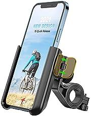 Grefay Universele Telefoonhouder voor op de Fiets, Snelle Demontage, voor Racefiets, MTB-Scooter, met 360 Graden Draaibaar, voor 3,5 - 7,0 Inch Smartphone